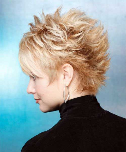 Short Blonde Straight Spiked Haircut