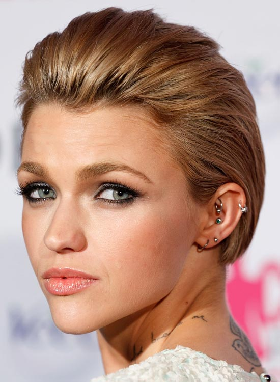 Short Slicked-Back Hair With Texture