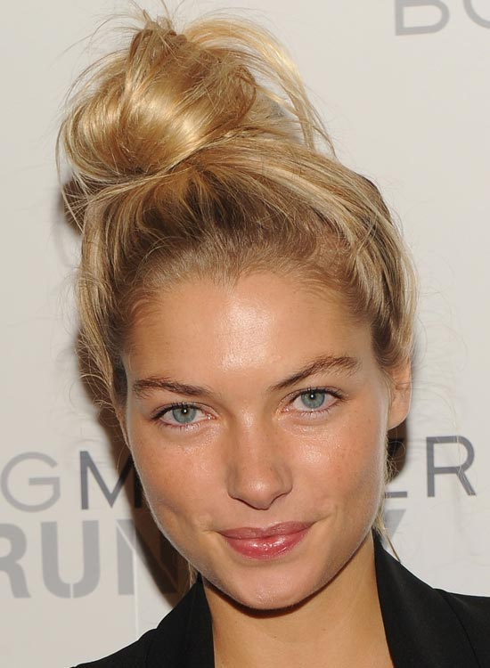 Side Twisted Topknot With Messy Finish