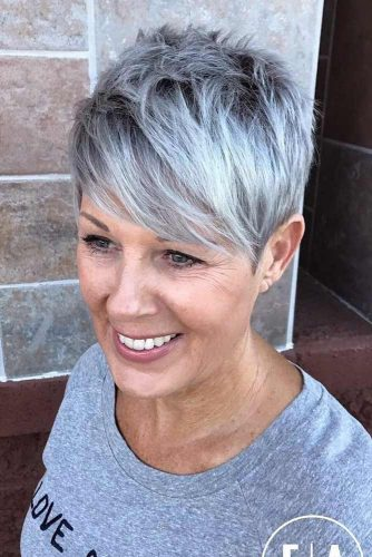 Silver, Featured Pixie Cut
