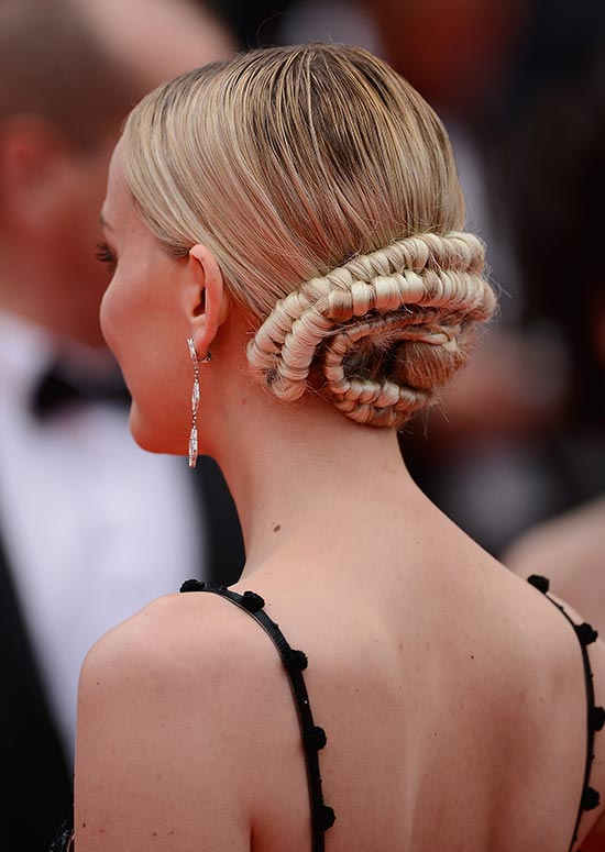Small Low Bun with Highly Twisted Hair Wraps