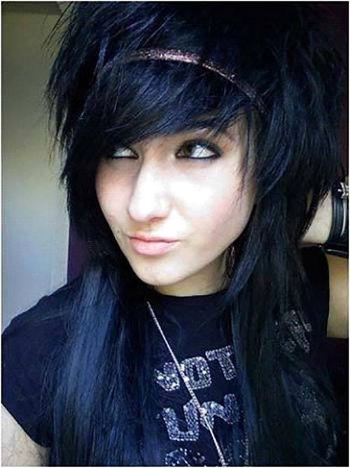 Spiky Emo Hairdo With Bangs