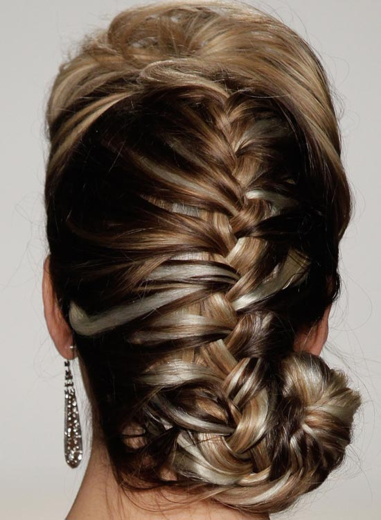 Spiral French Braid With Puff