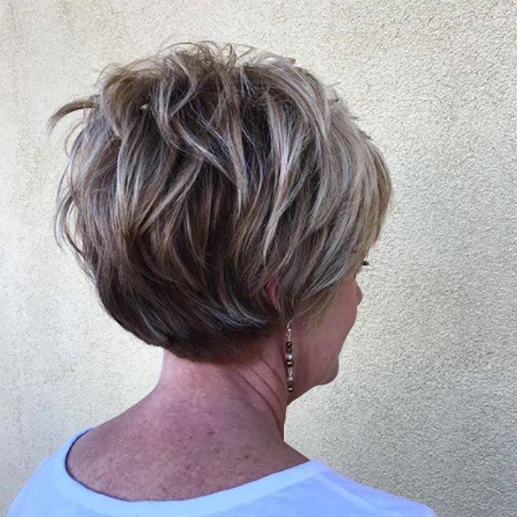 Stacked Bob with Ash Layers