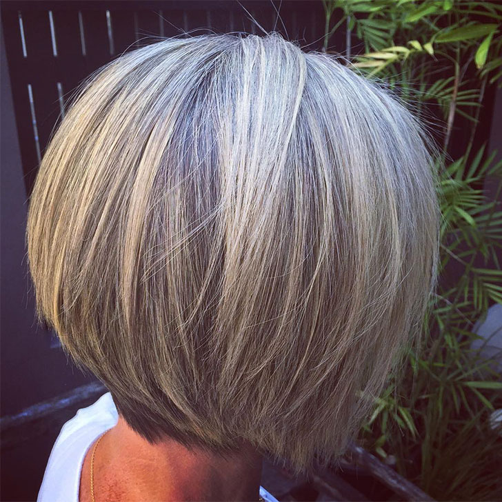 Straight Gray Hairstyle