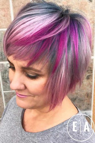 Stylish Bob With Color Mix