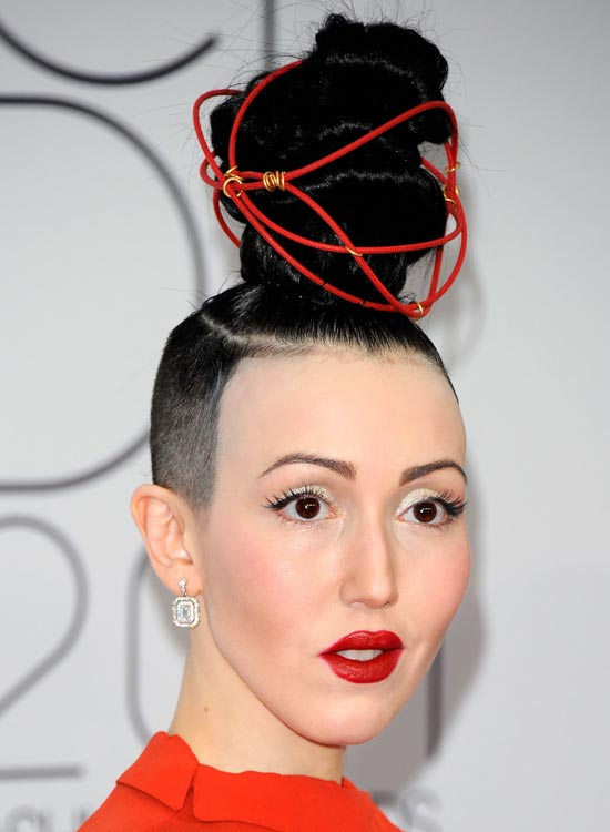 Super High Topknot with Shaved Sides