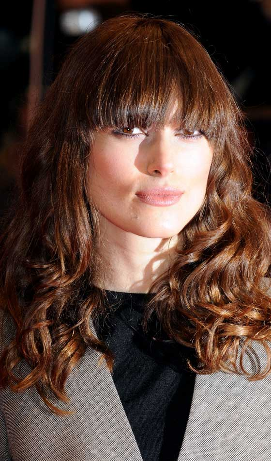 Symmetrical Front Bangs With Loose Layered Curls