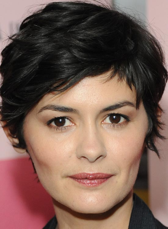 The Black Ruffled Hair Pixie