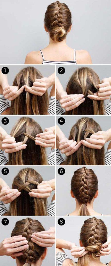 The Dutch Braid Bun