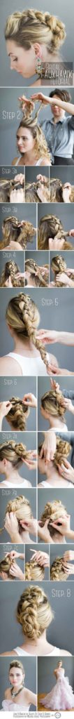 The Faux Dutch Braid Mohawk