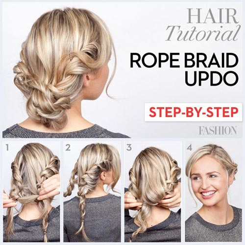 The Rope Braid Updo