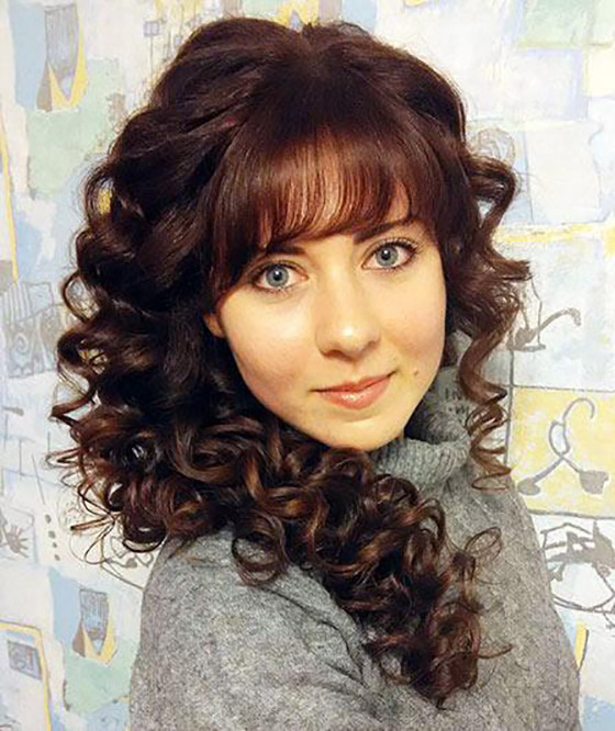 Tight Curls With Fringes