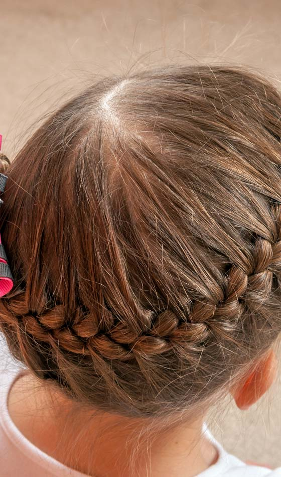 Top French Braided Pony Tail