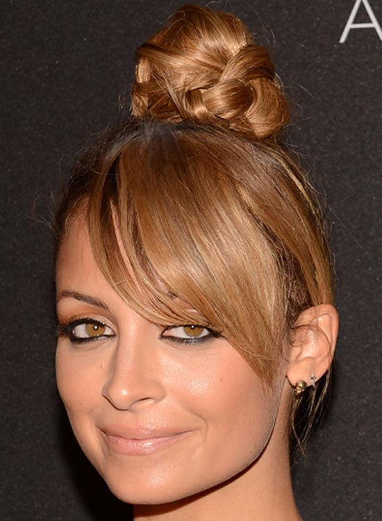 Topknot With Side Bangs