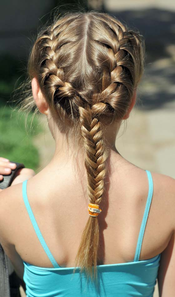 Triple Braid and a Long Pony Hairstyle