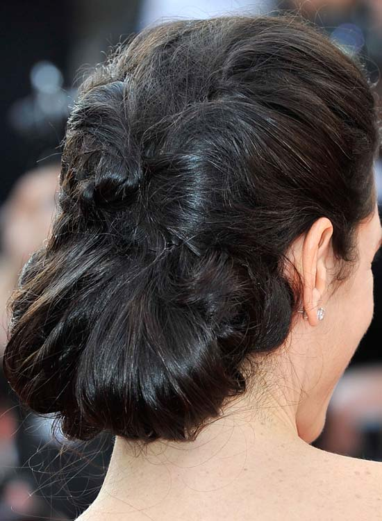 Twisted And Folded Messy Low Hairdo