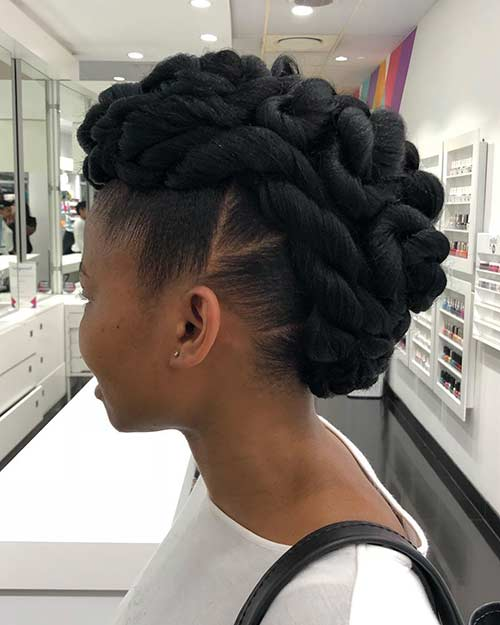 Twisted Braided Mohawk
