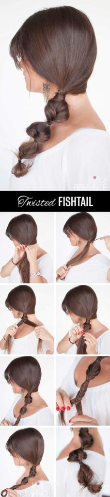 Twisted Fishtail Side Braid