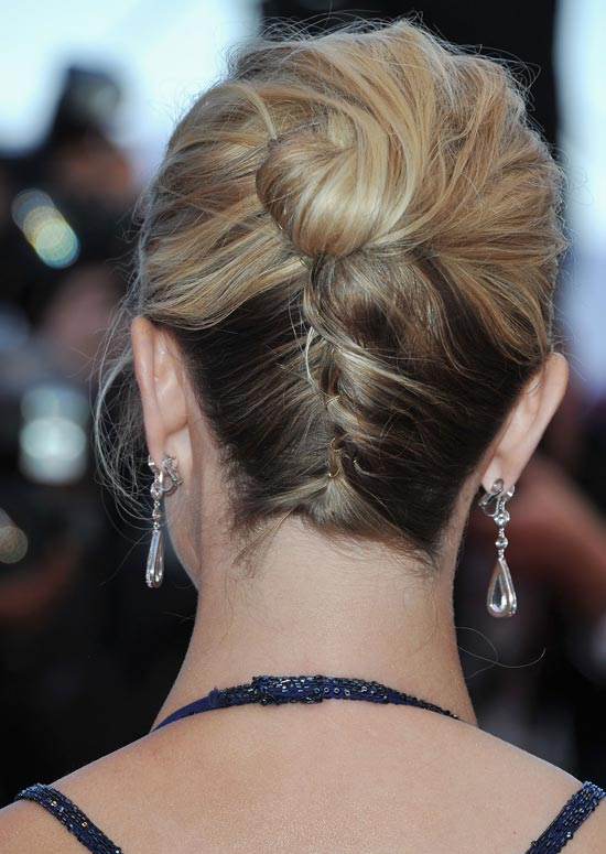 Upside Down French-Braided Bun