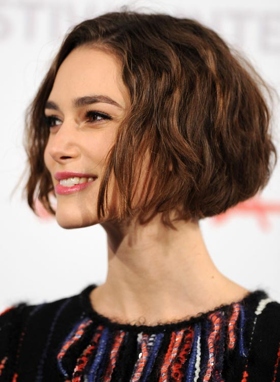 Wavy Jaw-Length Bob With Rounded Back