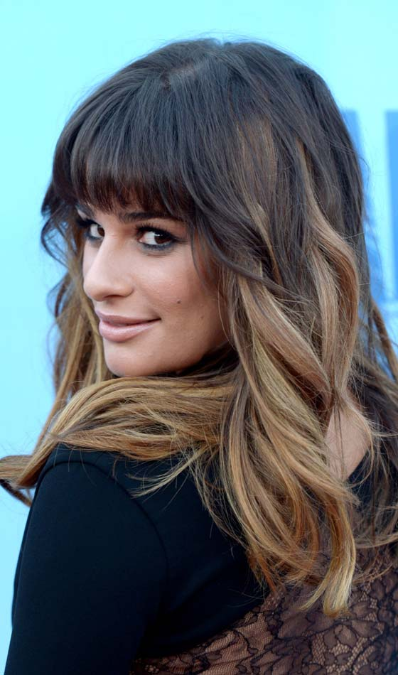 Wispy Thick Front Fringes with Wavy Long Hair